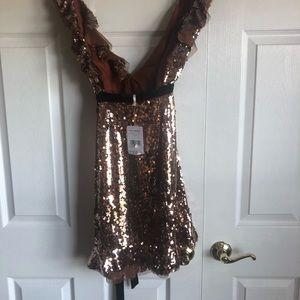 Free People Tribecca Sequined Mini Dress